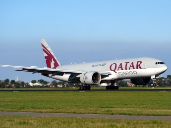 Plane Cargo Airport Qatar Airways Boeing 777