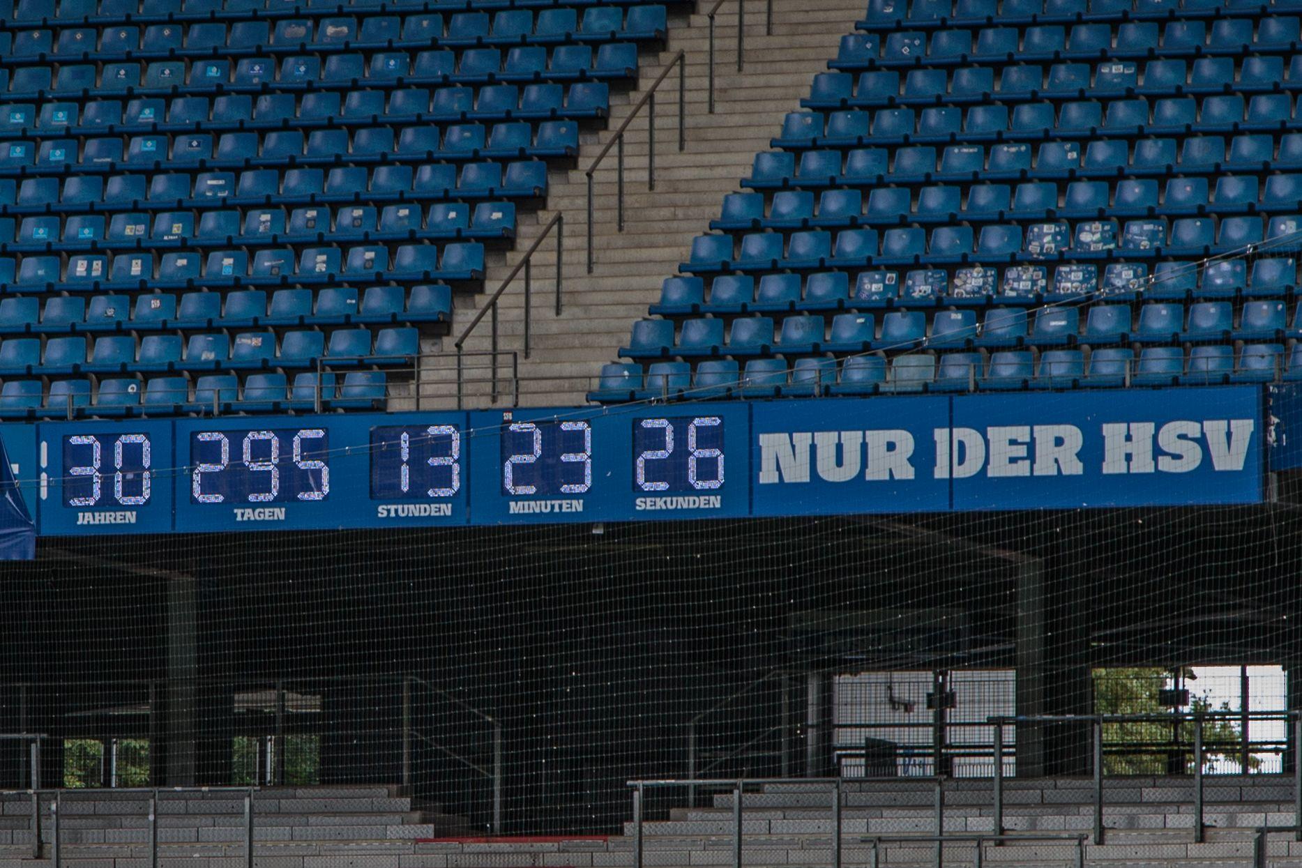 Volksparkstadion Hamburg HSV Uhr