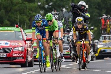 Ausreißergruppe Tour de France 2. Etappe Düsseldorf - Lüttich